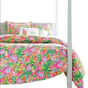 Lilly Pulitzer Multi Lulu Twin Duvet Cover RARE!!
